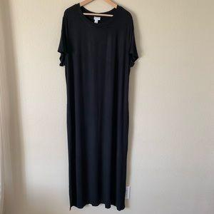 Ava & Viv Maxi Dress Short Sleeve Black